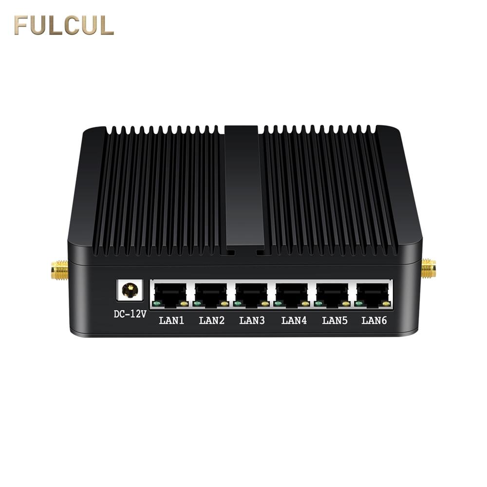 Mini PC PfSense Firewall OPNSense Gateway Router VPN Computer Intel Celeron Quad Core J1900 6 Gigabit Ethernet NICs Desktop