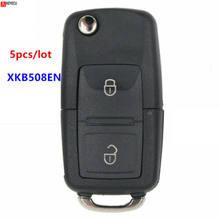 5 adet XHORSE İngilizce sürüm XKB508EN Volkswagen B5 tarzı tel evrensel uzaktan anahtar 2 düğmeler için VVDI anahtar aracı, VVDI2