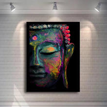 Modern Buddhism Art Canvas Paintings Wall Graffiti Art Prints and Posters Wall Pictures for Living Room Home Wall Cuadros Decor modern animal graffiti art elephant canvas painting wall art posters and prints for living room wall pictures decor home cuadros