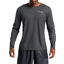 Chemise de Sport à manches longues pour hommes, tissu respirant, chemises amples, T-Shirt de course à séchage rapide, maillot d'entraînement de Fitness, vêtements de Sport