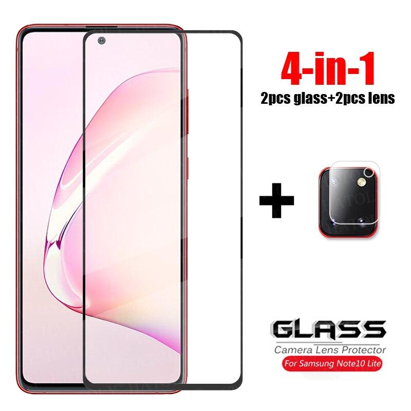 4-в-1 для стекла Samsung Galaxy Note10 Lite закаленное стекло для объектива камеры защита экрана полное покрытие стекло на Samsung Note 10 Lite