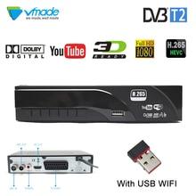 купить Vmade DVB-T2 HD Digital Terrestrial Receiver Support Dolby AC3 H.265/HEVC DVB-T Hot Sale Europe TV Tuner Set-Top Box + USB WIFI дешево