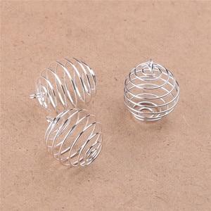 5 20 шт. 9 мм 15 мм 25 мм 30 мм посеребренные спиральная бусина в форме клетки Кулоны из нержавеющей стали для изготовления ювелирных изделий HK126|Ювелирная фурнитура и компоненты|   | АлиЭкспресс