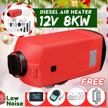 Newest 12V 8KW Car Heater Diesel Air Heater CD Thermostat Remote Control for Car Boat RV Motorhome Trailer Trucks With Silencer