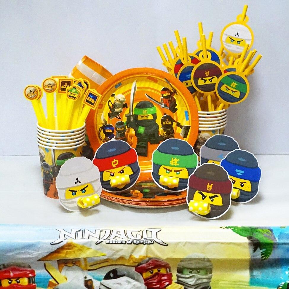 Новинка, Бумажные Соломенные бумажные сувениры для мальчиков Legoing Ninjagoing в масках для вечеринки в честь Дня Рождения