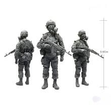 Modèle en résine blanche 1/35, modèle russe Alpha des forces antiparasitaires, les soldats doivent colorier manuellement le modèle, livraison gratuite
