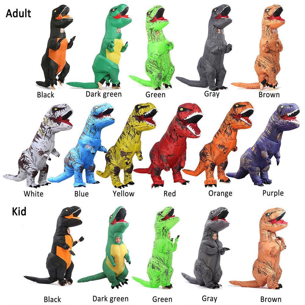 Adult Kids Unisex Dinosaur Inflatable Halloween Costume Fancy Dress Suit Hot