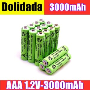 2/4/8/12/20pcs 100% Original AAA 3000 mAh 1.2 V Quality rechargeable battery AAA 3000 mAh Ni-MH rechargeable 1.2 V 2A battery