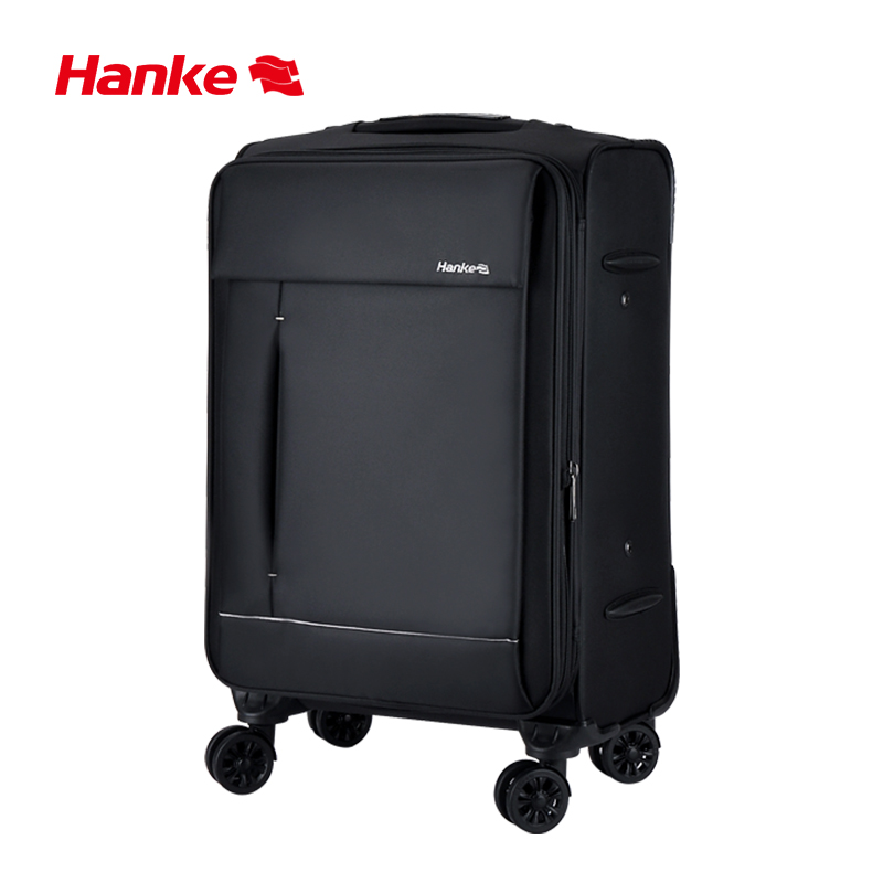 Hanke Expandable Travel Luggage Suitcase Soft Shell Trolley Case Waterproof Cloth Spinner Wheels TSA Lock Unisex H8813