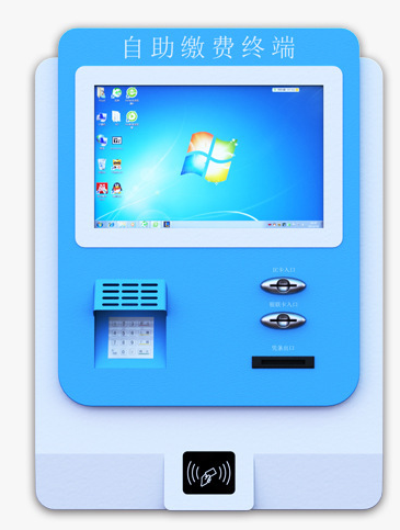 Self Service Touch Screen Card Reader Terminal Digital Kiosk