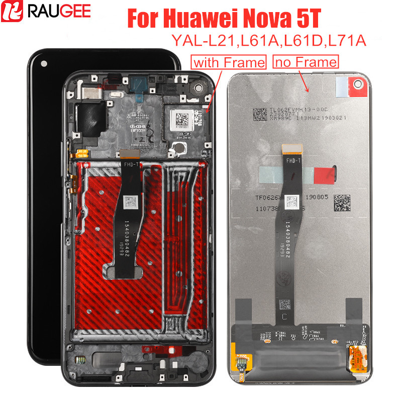 LCD Display For Huawei Nova 5T YAL-L21 L61A L61D L71A LCD Screen+Touch Display Digitizer Replacement For Huawei Nova 5t Display