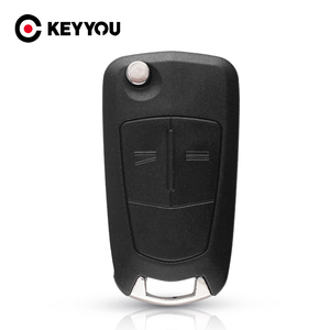Image 1 - KEYYOU مفتاح سيارة قابل للطي مع 2 أزرار ، 10X HU43 ، حافظة لأوبل فوكسهول أسترا إتش كورسا دي فيكترا سي زافيرا أسترا فيكترا سيجنوم