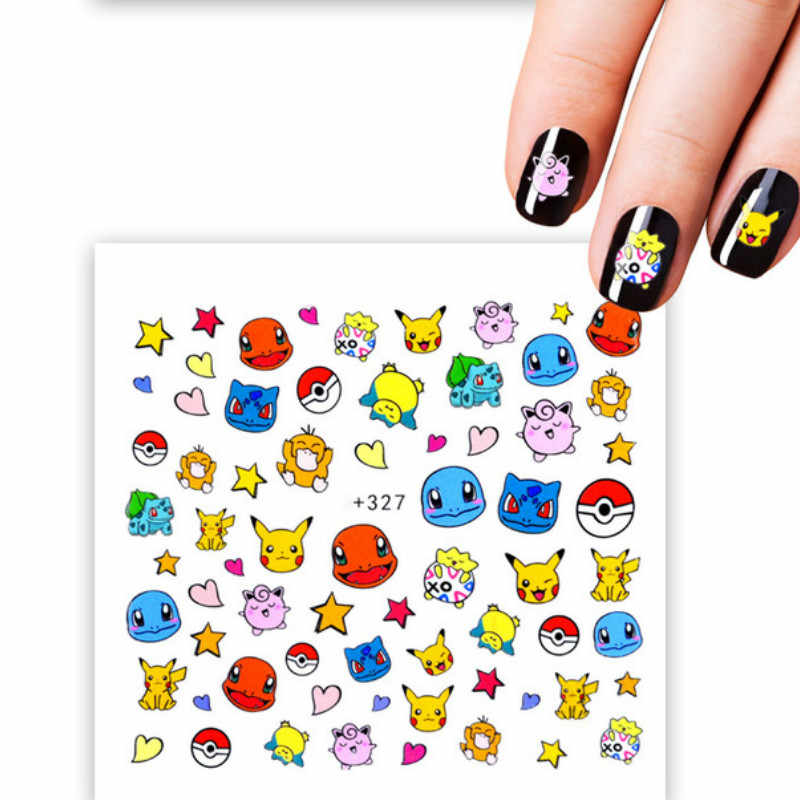 1pcs ผู้หญิง PARTY Favors Pokemon สติกเกอร์เล็บการ์ตูนผลไม้ Decals น้ำโอนที่มีสีสัน Slider เคล็ดลับเล็บแตงโม Decor