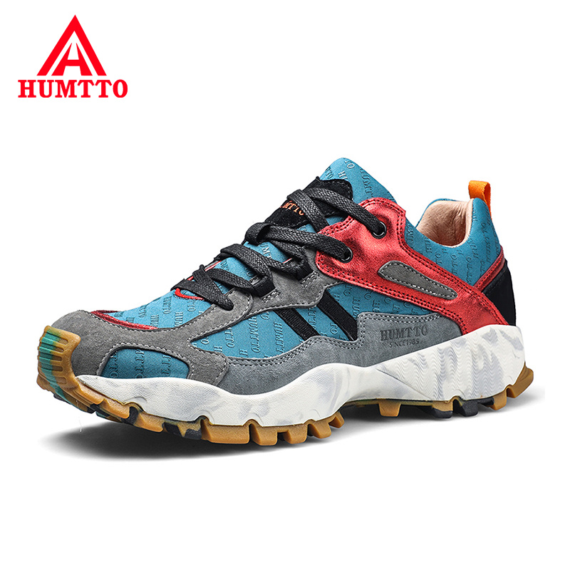 Brand Genuine Leather Hiking Shoes Men Non-slip Light Cushioning Climbing Shoes High Quality Sport Outdoor Shoes
