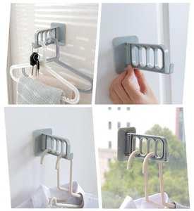 Hanging-Rack Dual-Hanger Hook-Cap-Holder Storage Door Bedroom Five-Link Kitchen 1pcs