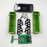 Tüketici Elektroniği'ten Pil Saklama Kutuları'de 10*18650 sürüm pil plastik kasa şarj koruma devre PCB greenworks için 40V çim biçme makinesi cropper çim kesici