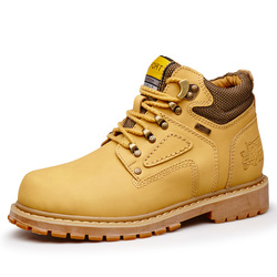 Yellow Cat Leather Ankle Boots Men Timber Men Casual Shoes 2019 land Work Boots Men Waterproof Bot Men Winter Shoes Big Size