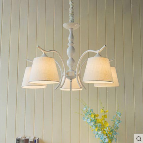 Simple and stylish garden living room bedroom restaurant American wrought iron children's room chandelier|Pendant Lights| |  - title=