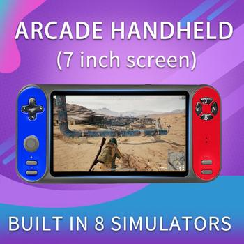 Handheld Game Console Retro Dual Game Player 7 Inch Support for FC GBA PSP3000