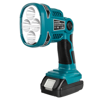 WAKYME-linterna LED inalámbrica para exteriores foco de luz para Makita DML812, sin batería, 4 modos de luz de trabajo con USB, 18V