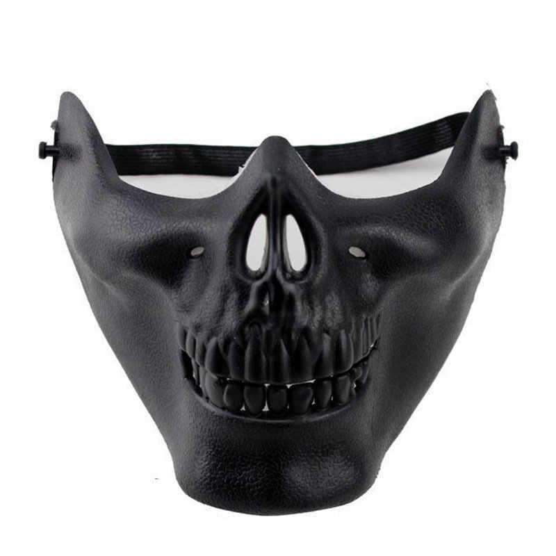 Homens Meia Face Esqueleto Crânio Máscara Do Partido Máscara de Halloween Cosplay Máscaras de Horror