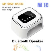 Altavoz Bluetooth para uñas, lámpara UV, 42LED, Gel Secador de esmalte de uñas, reproductor de música, luz de curado de uñas, lámpara LED de autodetección