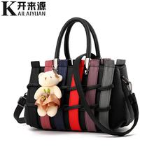 100% Genuine leather Women handbags 2019 New female Korean fashion handbag Crossbody shaped sweet Messenger Shoulder bag(China)