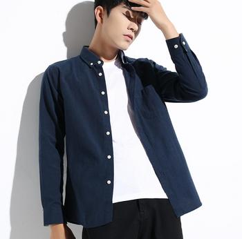 Shirt Men's New Spinning Long Sleeve Shirt Fashion Wild Young Student Tops Jacket KP1117-01-07
