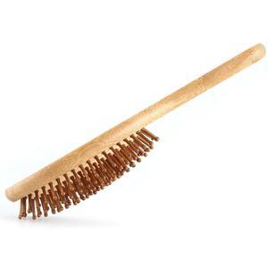 Image 4 - גבוהה באיכות שיער מסרק במבוק כרית אוויר עיסוי מסרק מפוחם עץ מלא במבוק כרית אנטי סטטי שיער מברשת קומבס נסיעות