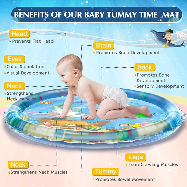 100CM Baby Water Play Mat Inflatable Cushion Infant Toddler Water Play Mat for Children Early Education Baby Toy Summer Toys 2
