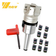 MT2 FMB22 M10 50mm 400R Face Mill Arbor Shell End Mill Cutter 4 Flutes Arbor Morse Taper Tool Holder W/ APMT1604 Carbide Inserts