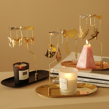Tray Rotating Candlestick Aromatherapy Candle Romantic Revolving Scenic Lantern Windmill Decoration Birthday Gift for Wedding