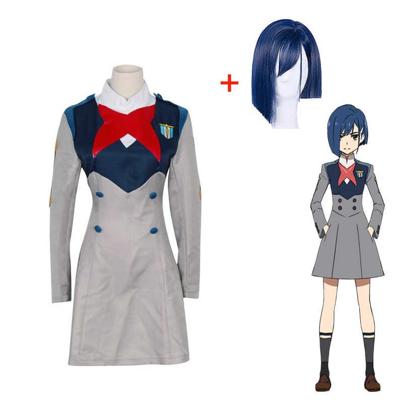 Nieuwe Anime Darling In De Franxx Hiro Cosplay Kostuum Ichigo Nul Twee Miku Kokoro Schooluniform Volledige Sets Halloween Pak outfit