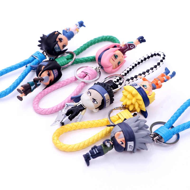 Hot New Naruto Chaveiro PVC Sasuke/itachi/Kakashi Chaveiro Chave Anéis Pingente Anime 7 centímetros Boneca Aleatória chave Da Cadeia de Presente Cosplay