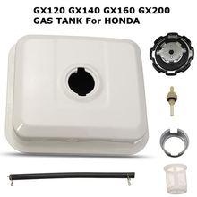 Бензобак для двигателя ATV 1 комплект, крышка топливного бака 3 л, фильтр для двигателя белого цвета для Honda GX120 GX140 GX160 GX200 ATV, квадроцикл, квадроцикл Go Kart, газовый двигатель