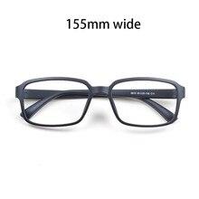 Cubojue 155 millimetri di Grandi Dimensioni Occhiali Da Vista Telaio Uomini Donne TR90 Nero Occhiali per la Prescrizione di Miopia Diottrica Occhiali Da Vista Uomo Quadrato