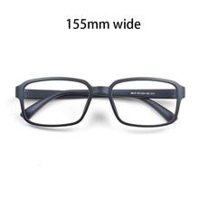 Cubojue Gafas de gran tamaño TR90 para hombre y mujer, anteojos negros para medir miopía, gafas dioptrías cuadradas, 155mm