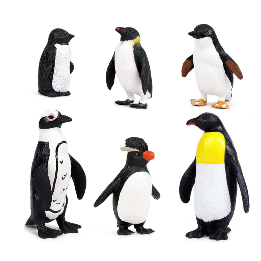 Simulation Penguin Models Figurines,Polar Arctic Animal Figures Antarctic Set,Easter Eggs Cake Toppers Christmas Birthday Gift 5