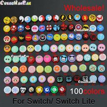 Tapas de palancas de pulgar analógicas de silicona para Nintendo Switch Lite NS, 100 Uds., controlador de JoyCon