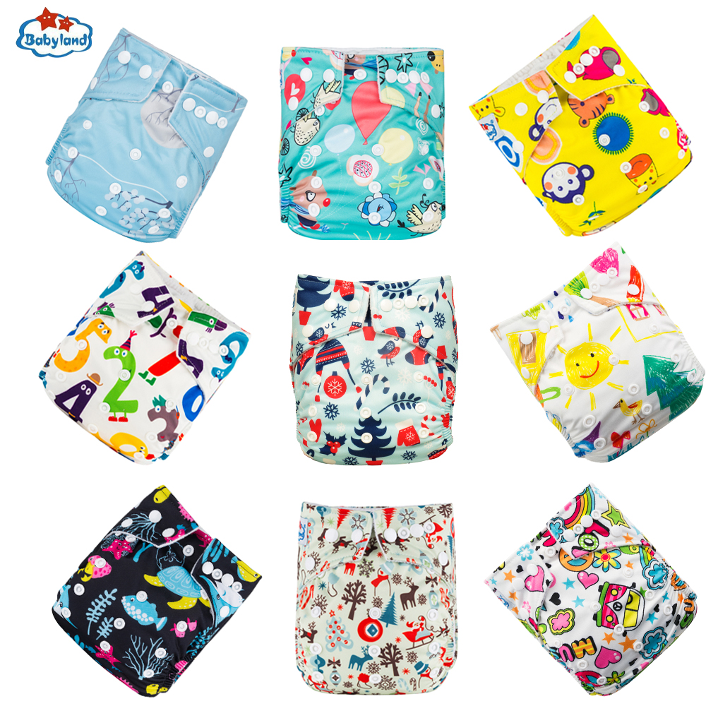 Babyland Nappy Reusable Diaper-Cover Eco-Friendly Fralda-Ecologica 9pcs/Set