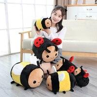 20-40 см новая милая плюшевая пчела Божья коровка детская игрушка детский подарок на день рождения милые подушки «насекомое» кукла Спящая Под...