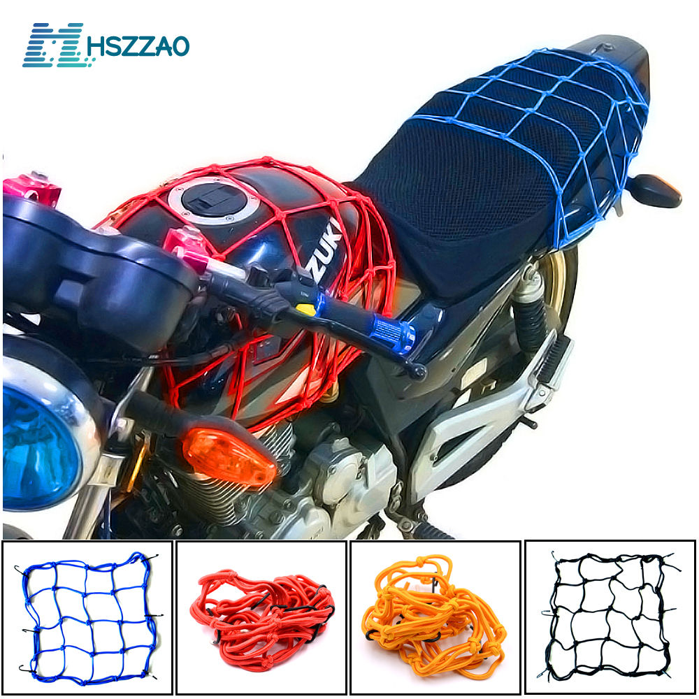 30x30cm Cargo Net Motorcycle Helmet Mesh Storage Motorcycle Helmet Bungee Baggage Compression Storage Cargo Finishing Net