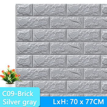3D Wall Stickers Marble Brick Peel and Self-Adhesive Wall paper Waterproof DIY Kitchen Bathroom Home Wall Decal Sticker Vinyl 12