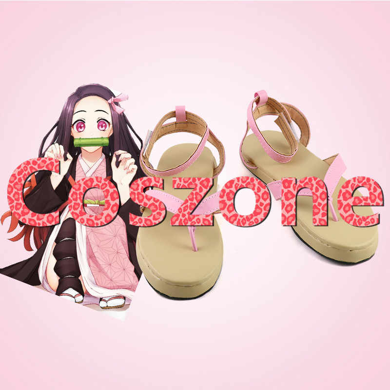 Dämon Slayer Cosplay Kimetsu keine Yaiba Agatsuma Zenitsu Kamado Nezuko Hashibira Inosuke Cosplay Schuhe Stiefel Kostüm Zubehör