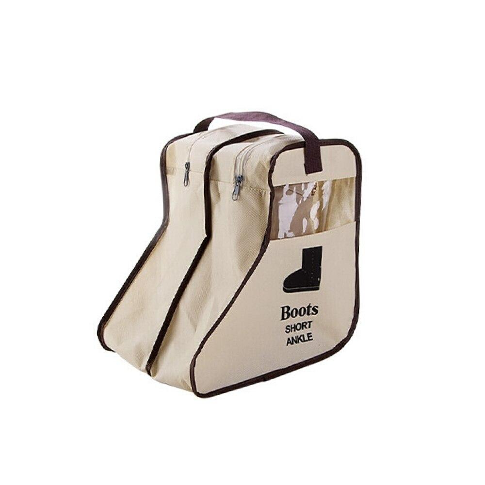 2 размера, сумка для хранения обуви, карман для обуви, чехол для путешествий, портативная практичная сумка в Корейском стиле, пылезащитная сумка на молнии - Цвет: beige