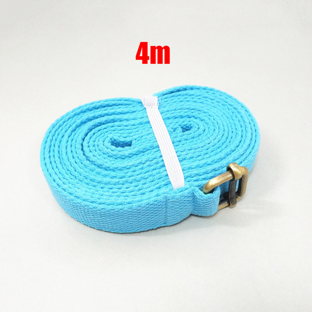 4m Yoga Toning Band Gear Belt Fitness Cotton Stretching Sweat absorption