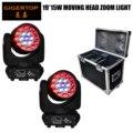 Gigertop 2xlot 19x15w RGBW 4in1 Мини светодиодный сценический светильник с движущейся головкой DJ KTV Club Home вечерние Профессиональные dj TP-L640A