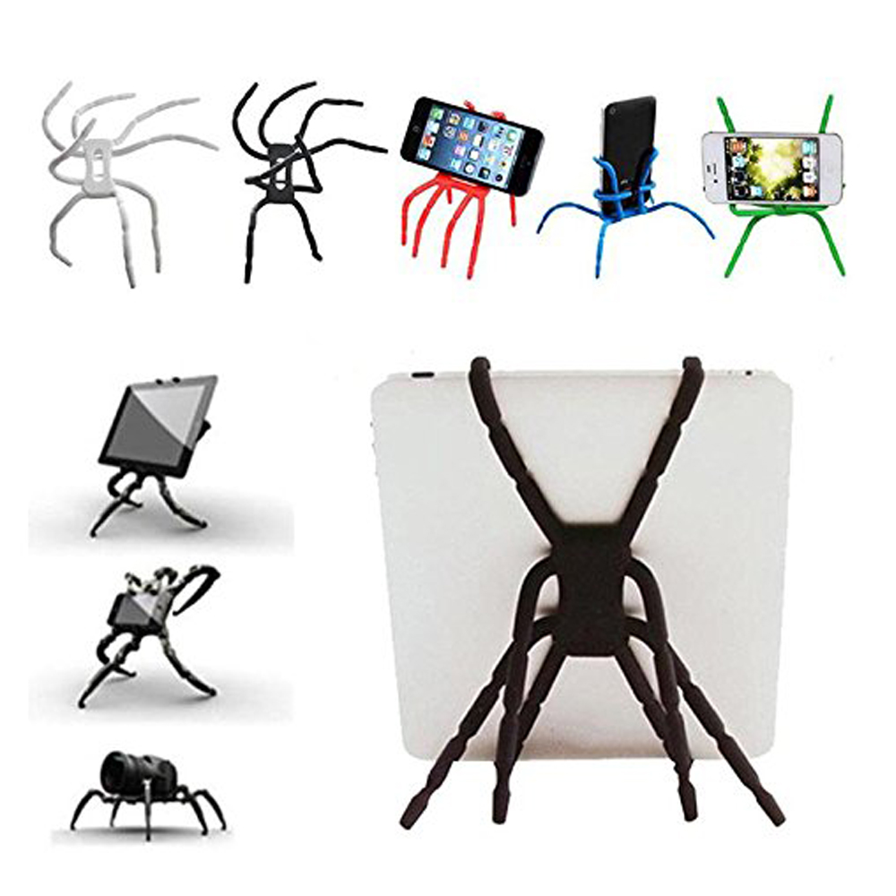Universal Spider Phone Table Stand Holder Adjustable Grip Car Desk Phone Kickstands Mount Support For IPhone7 11 Samsung Huawei
