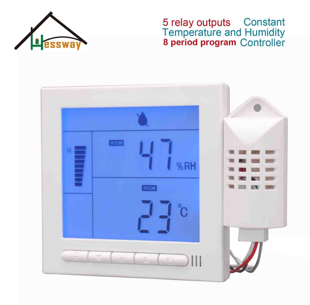 5 Relay Outputs Constant Temperature Humidity Sensor For Computer Room, Hospital, Laboratory, Bank