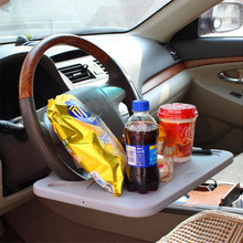 Car Food Tray with Clamp Bracket Folding Dining Table Drink Holder